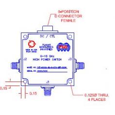 Commutateur état solide SP2T (0,1-60 GHz) : Série P2T