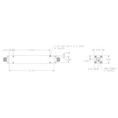 Filtre passe-bas de 1 à 17 GHz : Série C37 - X39