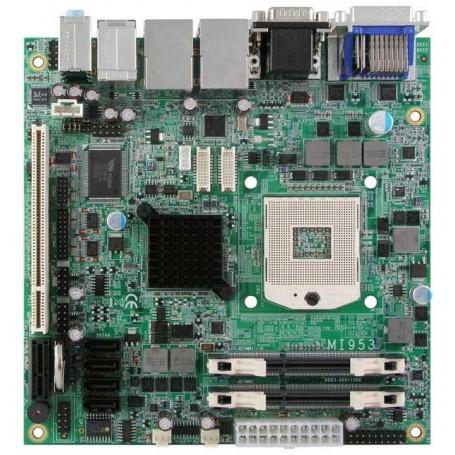 Socket G1 for Intel Core i7 / Corei5 Mini-ITX Motherboard w/ Intel QM57 PCH chipset : MI953F