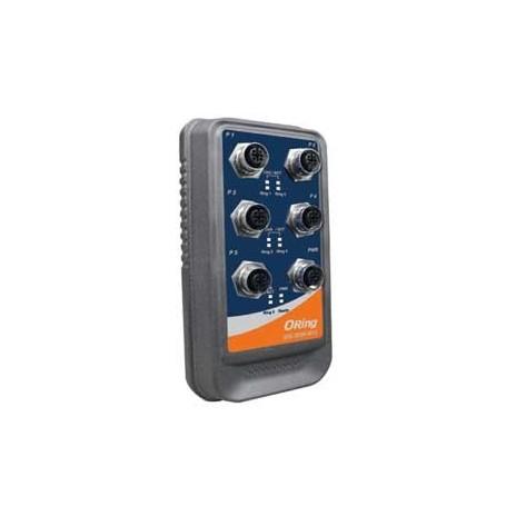 Switch étanche IP-67, 5 ports : IES-2050-M12