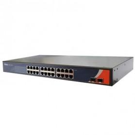 Switch Rackable 1U, 24 ports 10/100 Base-T(X) et 2 ports 100 Base-FX : RES-1242P