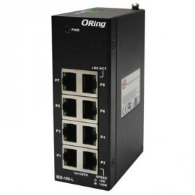 Switch Rackable Rail-DIN, 8 ports : IES-180-L