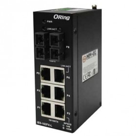Switch Rackable Rail-DIN, 8 ports : IES-162FX-L Series