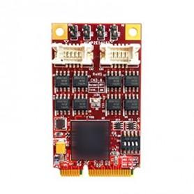 PCI Express 2.0 x 1 RS-422/485 DB-9 x 4 : EMP2-X402