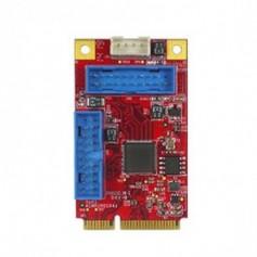 PCI Express 2.0 USB 3.0 19 Pin box header : EMPU-3401