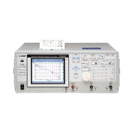 Analyseur de réponse en fréquence : 0,1 mHz et 15 MHz