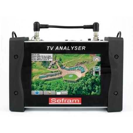 Mesureur de champ terrestre (DVB-T/T2/T2Lite) cable (DVB-C/C2), satellite (DVB-S/S2) avec entrée optique : 7859