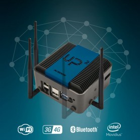 UP Squared AI Edge X System powered by Intel x7-E3950 SoC, 8GB RAM, 64GB eMMC