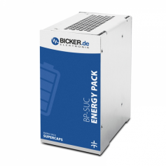 Stockage d'énergie sans entretien Supercaps pour montage rail DIN : BP-SUC-2120D