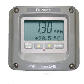 Contrôleur fixe fluorure dissous : Q46F/82
