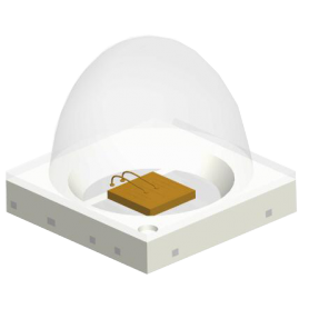 LED IR 3.50 mm x 3.50 mm x 2.29 mm : Série RE35 90°