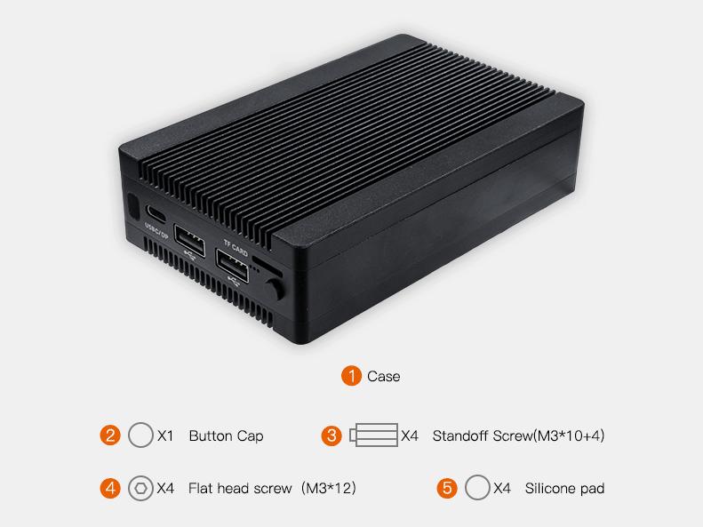 Boitier carte mère Pico-ITX Rockchip RK3399-PC