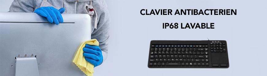 Clavier anti-bacterien IP68 lavable