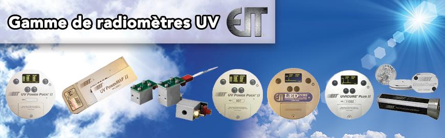 La gamme complète de radiomètres et systèmes de mesure en continu UV de notre fournisseur EIT
