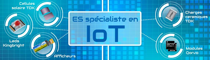 Composants et petits afficheurs spécialisés dans l'IoT !