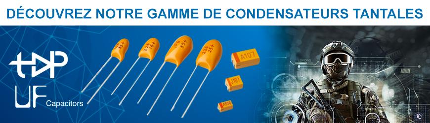 Découvrez notre gamme de condensateurs tantales