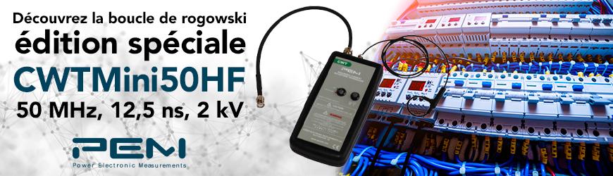 Boucle de Rogowski composants de puissance 50 MHz -3 dB