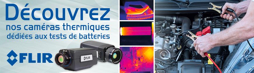 Caméras thermiques dédiées aux tests batteries
