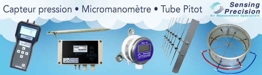 Capteurs pression, micromanomètres & tubes pitot