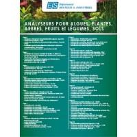 Analyseurs pour algues, plantes, arbres, fruits et légumes, sol
