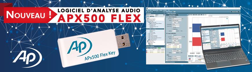 Le leader de l'analyse audio enfin disponible en version logicielle : APX500 FLEX