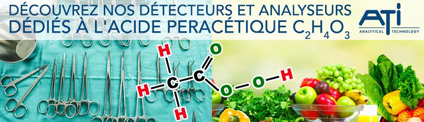 Analyseurs et détecteurs dédiés à l'acide peracétique