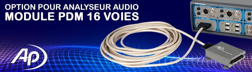 Option PDM 16 voies, par Audio Precision