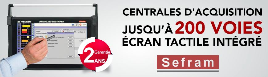 Centrales d'acquisition SEFRAM disponibles chez ES