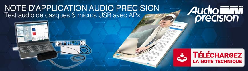 Note d'application : Testez les casques et micros USB avec APx