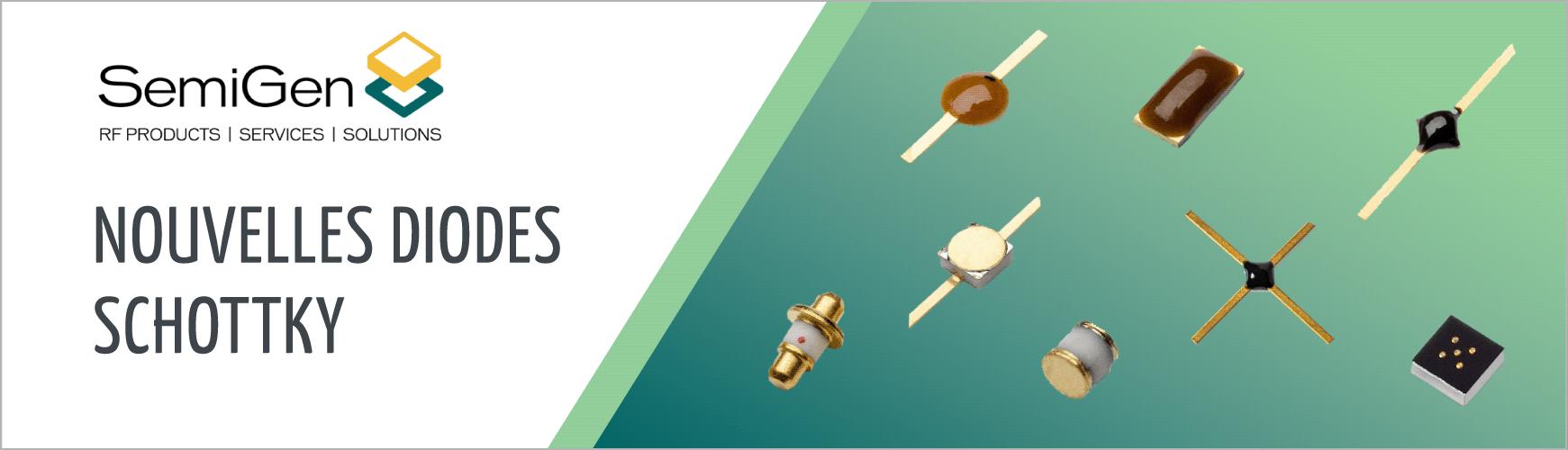 """ES présente les diodes Schottky et Schottky """"Barrier Ring Quad"""", par SemiGen"""