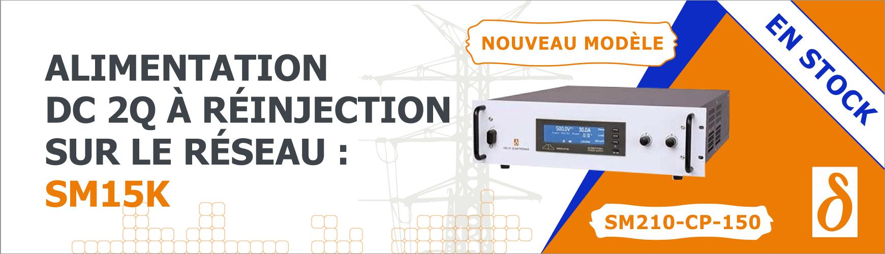 Alimentation DC bidirectionnelle 15 kW : SM210-CP-150