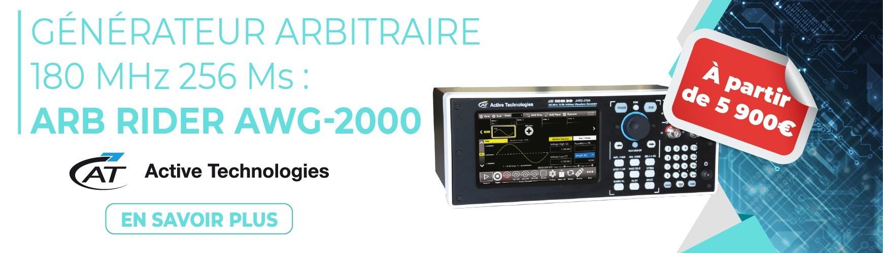 Générateur arbitraire 180 MHz AWG-2000