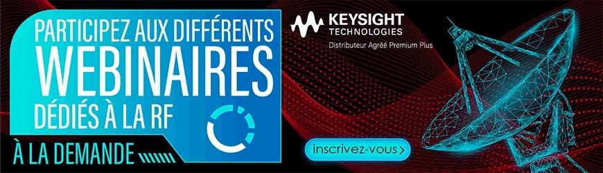 Wébinaires dédiés RF et 5G Keysight
