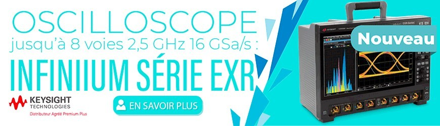 Oscilloscope jusqu'à 8 voies : SÉRIE EXR