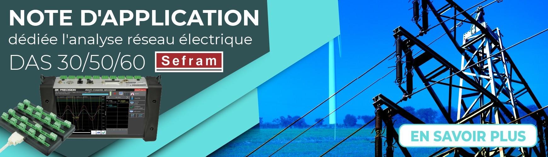 Note d'application : Analyse réseau électrique
