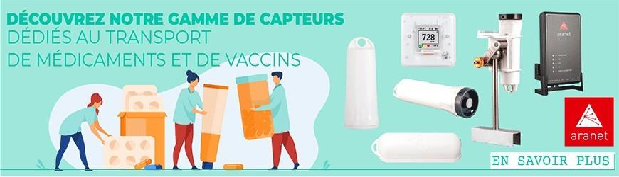 Capteurs dédiés aux transports de médicaments et de vaccins