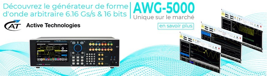 Générateur de forme d'onde arbitraire 6,16 Gs/s