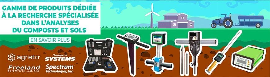 Produits dédiés aux analyses du composts & des sols