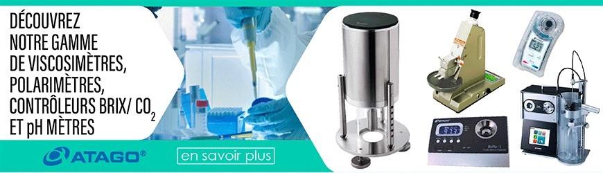 Viscosimètres, polarimètres, contrôleurs BRIX/ CO2 et pH mètres