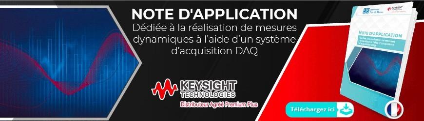 Note d'application : Réalisation de mesures dynamiques à l'aide d'un système d'acquisition DAQ