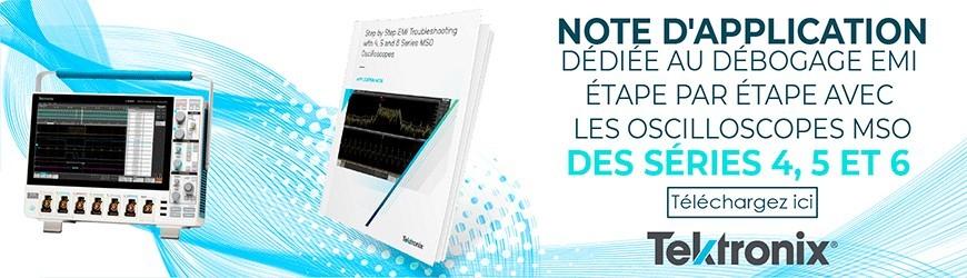 Note d'application : Débogage EMI oscilloscopes MSO 4/ 5/ 6