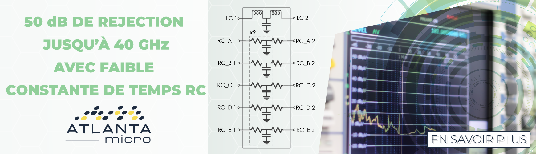 Atlanta Micro présente ses filtres EMI en boitier compact