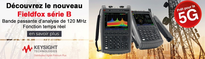 Analyseur de spectre RF fieldfox série B avec une bande passante d'analyse de 120 MHz