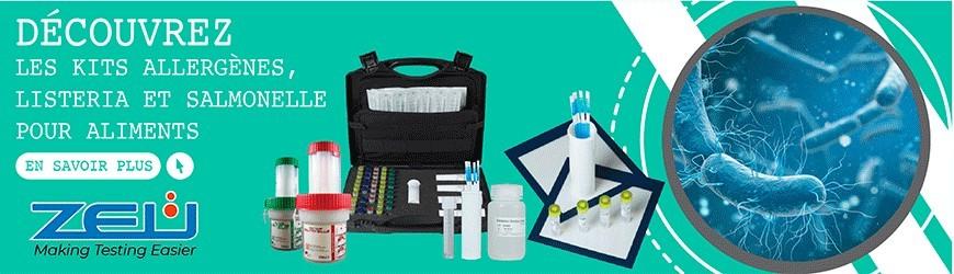 Kits allergènes, listeria et salmonelle pour aliments
