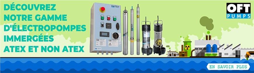 Découvrez notre gamme d'électropompes immergées ATEX et NON ATEX