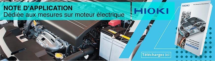 Note d'application dédiée aux mesures sur moteur électrique
