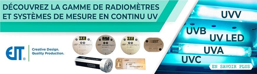 Radiomètres et de systèmes de mesure en continu UV