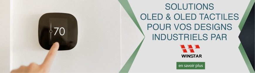 Solutions OLED & OLED tactiles pour vos designs industriels