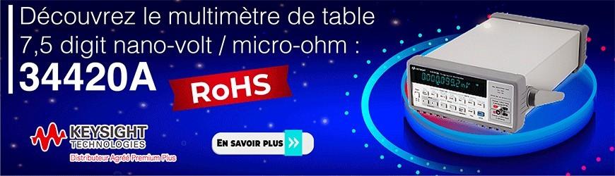Multimètre de table 7,5 digit nano-volt / micro-ohm RoHS : 34420A