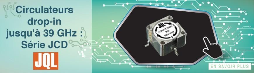 """Circulateurs dits """"drop-in"""" avec une bande de fréquence allant de 112 MHz à 39 GHz par JQL"""